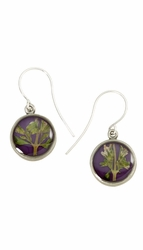 Blooming Thyme on Acai SM RND Earrings