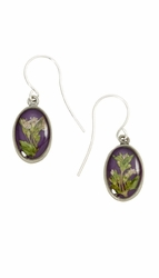 Blooming Thyme on Acai Ultra SM Oval Earrings