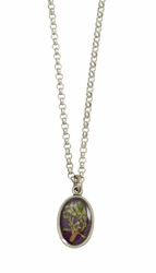 Blooming Thyme on Acai Ultra SM Oval Necklace