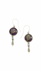Blooming Thyme on Acai Ultra SM RND Earrings w/Drop