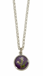 Blooming Thyme on Acai Ultra SM RND Necklace