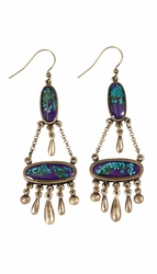 BQAL Double Oval w/Dangles Earrings