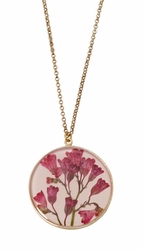 "Coral Bell Large Round 16"" Adj. Necklace"