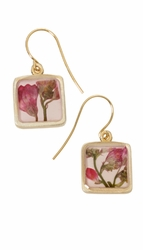 Coral Bell Square Earrings