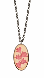 Cornflower Lg Oval Necklace