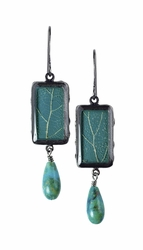 Damiana Oak Med Rect w/Drop Earrings