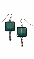 Damiana Oak SM SQ Earrings w/ GM Drop