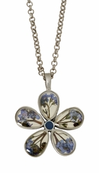 "FMN 5 Petal Flower 16"" Adj. Pendant on Chain"