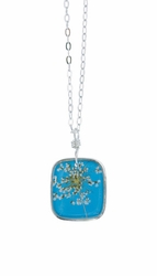 "Laceflower Belize Breeze 16"" Med Sq. Necklace"