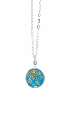 "Laceflower Belize Breeze 16"" Petite Rd. Necklace"