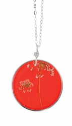 "Laceflower Blood Orange 16"" Lg Rd. Necklace"