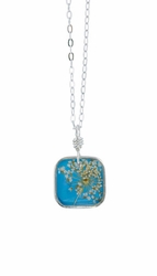 "Laceflower Belize Breeze 16"" Sml Sq. Necklace"