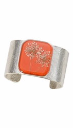 Laceflower Blood Orange Lg Sq. Cuff Bracelet