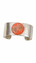 Laceflower Blood Orange Med Rd. Cuff Bracelet