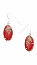 Laceflower Small Oval Earrings