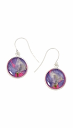 Larkspur Magenta Rnd Earrings