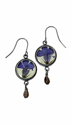 Lobelia Lime SM Round Earrings w/Drop