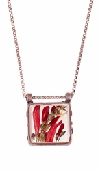 Scarlet Gilia Lg Square Necklace