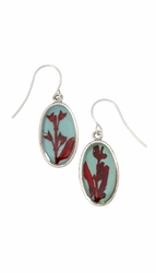 Scarlet Gilia on Robin Small Oval Earrings