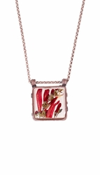 Scarlet Gilia Sm Square Necklace