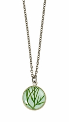 Seagrass on Aqua SM Round Necklace