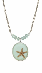 "Starfish Large Rd 16"" Adj. Pd w/ Beads - Reversible"