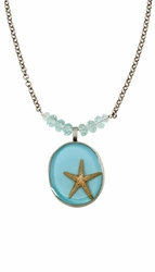 "Starfish OT Large Round 16"" Adj Pd w/Beads Reversible"