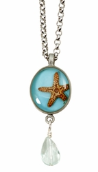 "Starfish OT Small Round 16"" Adj. Necklace w/ Drop"