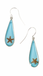 Starfish OT Teardrop Earrings
