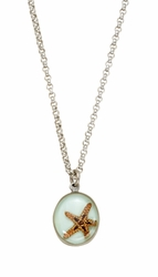 "Starfish Small Round 16"" Adj. Necklace"