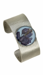 Texas Bluebonnet on Dusk Blue MED Cuff Bracelet
