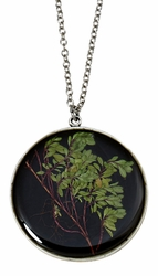 Thyme Brown LG Round Necklace