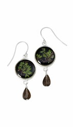 Thyme Brown SM Round Earrings w/Drop