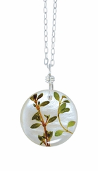 "Thyme Herb on Shell 16"" Med Rd. Pend-Chain"