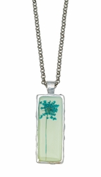 Turquoise QA Sea Foam Rect Necklace
