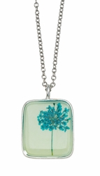 Turquoise QA Seafoam Med Sq Necklace