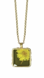 "Yellow Achillea 16"" Sml Sq. Necklace"