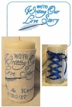 Love Story candle wrap