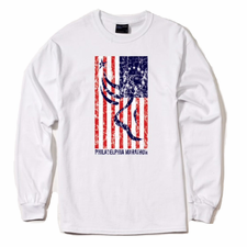 Philadelphia Marathon: 'Betsy Run' Men's LS Tech Tee - White