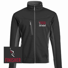 Philadelphia Marathon: 'Emb. Finisher' Men's Full Zip Tech Jacket - Charcoal / Black - by Phantom™ <br><font color=red><b><i>Pre-order: ships in two weeks</i></b></font>
