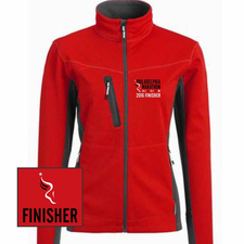 Philadelphia Marathon: 'Emb. Finisher' Women's Full Zip Tech Jacket - Red - by Phantom™ <br><font color=red><b><i>Pre-order: ships in two weeks</i></b></font>