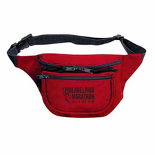 Philadelphia Marathon: 'Event Logo' 3-Pocket Nylon Fanny Pack - Red