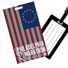 Philadelphia Marathon: 'Event Logo' Rubber Luggage Tag - Dark Grey