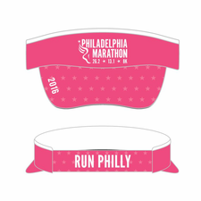 Philadelphia Marathon: 'Event Logo' Tech Visor - Pink - by Boco®