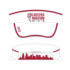 Philadelphia Marathon: 'Event Logo' Tech Visor - White - by Boco®