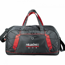 "Philadelphia Marathon: 'Landmarks' ""Shockwave"" Duffel Bag - Black / Red"