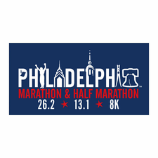 Philadelphia Marathon: 'Landmarks' Sticker - Navy / Red