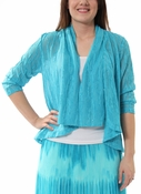 3/4 Slv Shawl Collar Sequin Cardigan in Pacific by Ruby Rd.