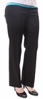 Chained Sateen Pant in Black by N Touch