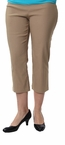 Flatten It Capri Pant with Leg Detail in Fossil by Tribal